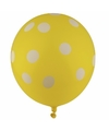 Gele ballonnen met witte stippen 30 cm 5st