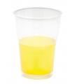 Gele bekers met witte rand