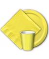 Gele borden 8 stuks