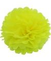 Gele decoratie pompom 25 cm