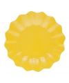 Gele diepe bordjes 21 cm