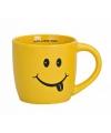 Gele drinkbeker met smiley type 1