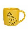 Gele drinkbeker met smiley type 2