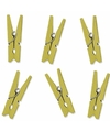 Gele houten knijpers 10 stuks
