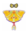 Gele komeetstaart vlinder verkleedset voor meisjes