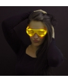 Gele lamellen bril met led licht