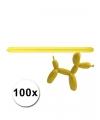 Gele modelleer ballonnen 100 stuks