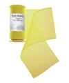 Gele organza stof op rol 12 x 300 cm
