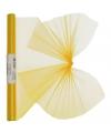 Gele organza stof op rol 40 x 200 cm