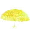 Gele paraplu met nylon stroken