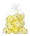 Gele plastic eieren 12 stuks