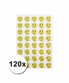Gele smiley stickers 120 stuks