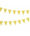 Gele vlaggenlijn met witte stippen 4 meter