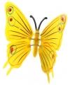 Gele vlinder op stok 74 cm