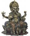 Genesha boeddha beeld 20 cm