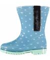 Gestipe lichtblauwe regenlaarzen voor meisjes