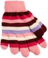 Gestreepte meiden handschoenen roze