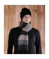 Gestreepte sjaal grijs beige