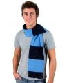 Gestreepte sjaal navy met lichtblauw