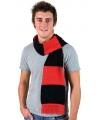 Gestreepte sjaal rood met zwart