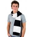 Gestreepte sjaal zwart met wit