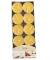 Geur theelichtjes mango geel 10 stuks