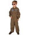Gevechtspiloot kostuum bruin voor kinderen
