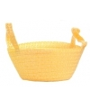 Gevlochten mandje geel 24 cm