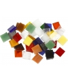 Glasmozaiek gekleurde tegels vierkantjes 10x10 mm 700 stuks