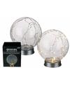 Glazen bol met 30 lampjes