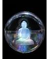 Glazen bol met kristal boeddha 8 cm