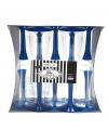 Glazen met donkerblauwe voet 10 stuks