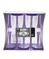 Glazen met lila paarse voet 10 stuks