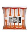 Glazen met oranje voet 10 stuks