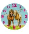 Glazen paarden klok 33 cm