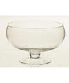 Glazen ronde vaas op voet 16 3 cm