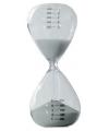 Glazen zandloper grijs 5 minuten