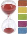 Glazen zandloper rood 30 minuten
