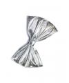 Glimmend vlinderstrikje zilver