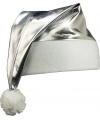 Glimmende zilveren kerstmuts