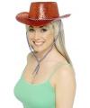 Glitter cowboyhoed rood