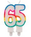 Glitter kaars 65 jaar