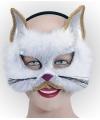 Glitter kat masker wit