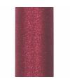 Glitter tule stof donker rood 15 cm breed