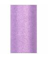 Glitter tule stof paars 15 cm breed