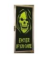 Glow in the dark deurposter met skelet
