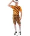 Golf kostuum oranje voor heren