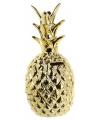 Gouden ananas spaarpot 15 cm