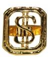 Gouden dollar ring verstelbaar
