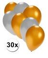 Gouden en zilveren ballonnen 30 stuks